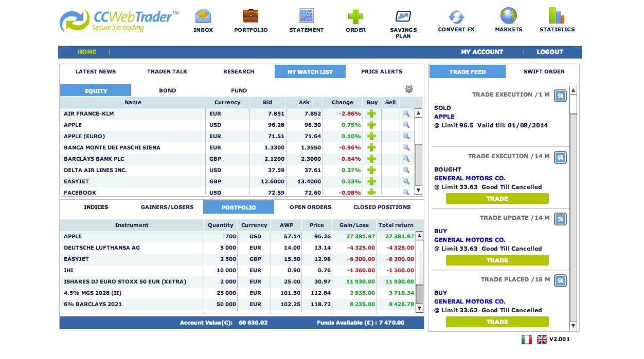 Webtrader 2014 screenshot